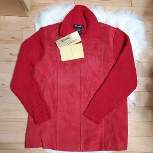 Denim & Co QVC NWT Washable Suede jacket